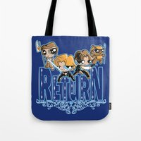 return Tote Bags featuring Return by SilverBaX