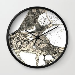 War Spill Wall Clock