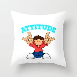 """""""New York Attitude"""" cute and fabulous tee design. Makes an awesome gift to your family and friends! Throw Pillow"""