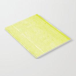 Neon Yellow Telephono Stripes Notebook
