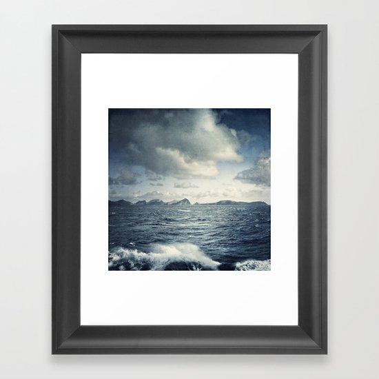unsteady horizon Framed Art Print