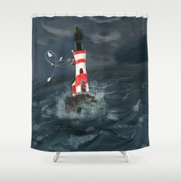 Gust of wind. Shower Curtain