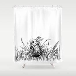 A Bunny. With a Sword. Shower Curtain