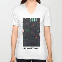 audi V-neck T-shirts featuring AFK by Hector Mansilla