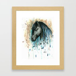 Blue friesian 1 Framed Art Print