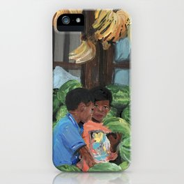 watermelons and bananas iPhone Case