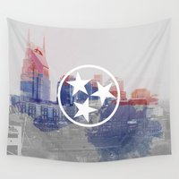 tennessee Wall Tapestries featuring Nashville, Tennessee by Matt Scott Crum
