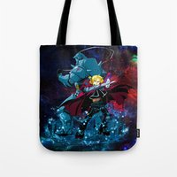 fullmetal alchemist Tote Bags featuring Two Alchemist by BradixArt