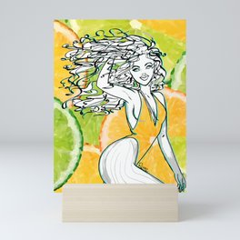 Afrolatina lemonade Mini Art Print