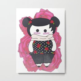 Rose the doll Metal Print