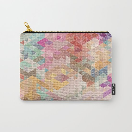 Soft Mini Triangles Carry-All Pouch