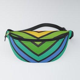 Chevron Green Rainbow Stripes Fanny Pack