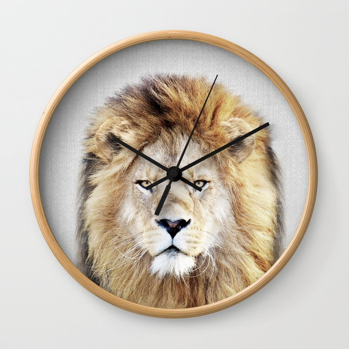 Lion 2 - Colorful Wall Clock