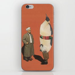 Man and Penguin   iPhone Skin