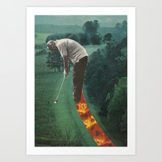 on the green Art Print