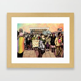 Love and Solidarity Framed Art Print