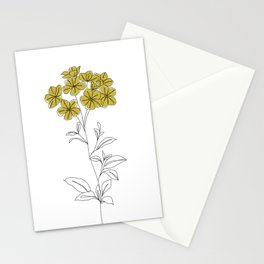 Botanical floral illustration line drawing - Iona Stationery Cards