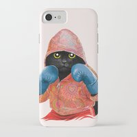 jazzberry iPhone & iPod Cases featuring Boxing Cat 2  by Tummeow
