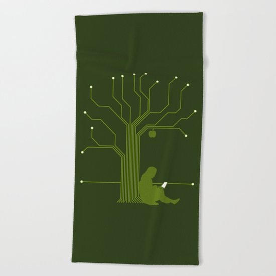 Apple CircuiTree Beach Towel