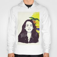 ultraviolence Hoodies featuring THE ULTRAVIOLENCE GIRL by Robert Red ART