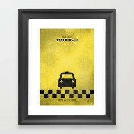 Taxi Driver - Minimal Framed Art Print