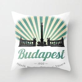 Hősök tere - Heroes' Square - Budapest, Hungary Throw Pillow