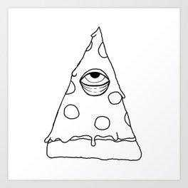Illuminati Pizza - Swag Pepperoni Confirmed BLACK Art Print