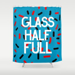Glass Half Shower Curtain