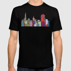 San Francisco city skyline Mens Fitted Tee MEDIUM Black