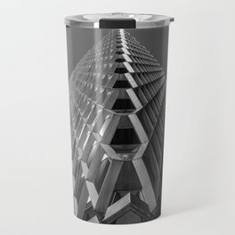 Abstract City Architecture Pittsburgh Black and White Travel Mug