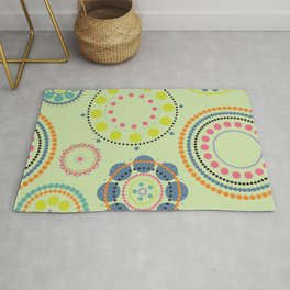 Colorful circles pattern Rug