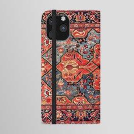 Kashan Poshti Central Persian Rug Print iPhone Wallet Case