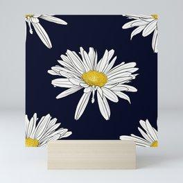 Seasons K Designs Navy Daisy Print Mini Art Print