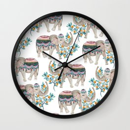 Bohemian Elephants Wall Clock
