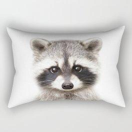 Baby Raccoon, Baby Animals Art Print By Synplus Rectangular Pillow