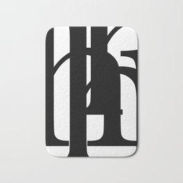 Hidden Letters. Baskerville H Bath Mat
