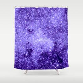 Lavender Galaxy Sparkle Stars Shower Curtain