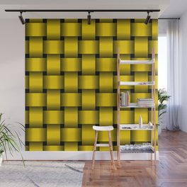 Large Gold Yellow Weave Wall Mural