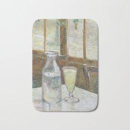 Café table with absinth Bath Mat