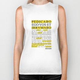 Pedicabo ego vos et irrumabo. Catullus XVI. Biker Tank