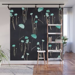 HOPE: Light Blue Flower Pattern Wall Mural