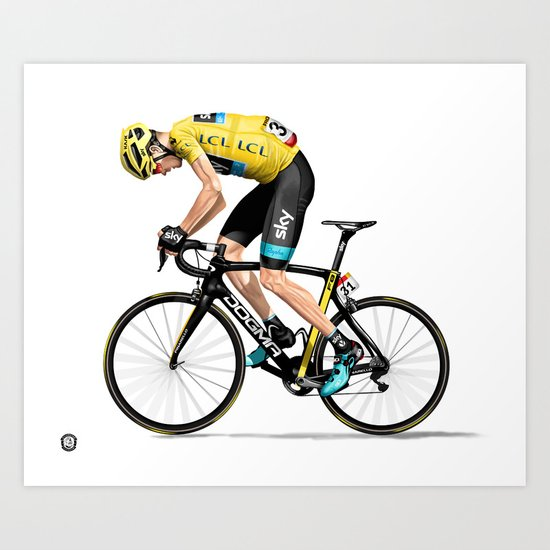 Chris Froome   Yellow Jersey by sylvrstarrillustration