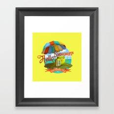 Hello summer and hello sea! Framed Art Print