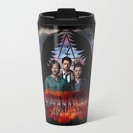 Supernatural Family Dont end with blood Travel Mug