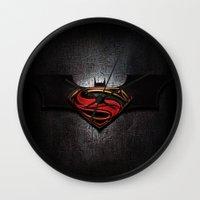 superman Wall Clocks featuring Superman by neutrone