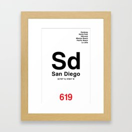 San Diego City Poster Framed Art Print