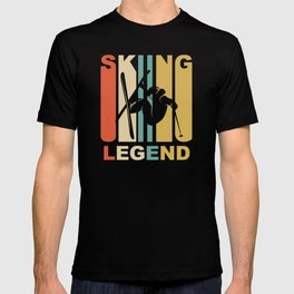 Vintage 1970's Style Skiing Legend Graphic T-shirt
