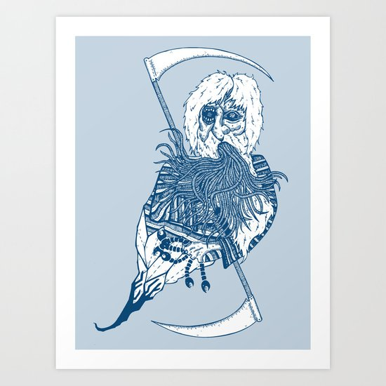 killer beard brah! Art Print