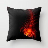 scorpio Throw Pillows featuring Scorpio by Eli Vokounova