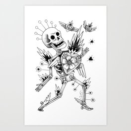 Adios mi amor Art Print